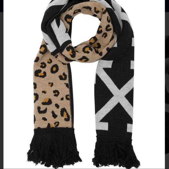 ff75eb64f62ec Off-White Accessories | Offwhite Arrows Scarf Leopard Co Virgil ...